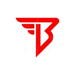 Letter B Flying Logo