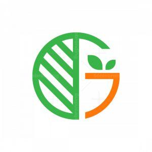 Letter G Vegan Logo