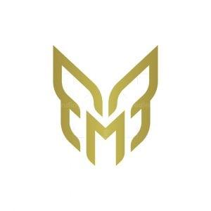 Letter M Butterfly Logo