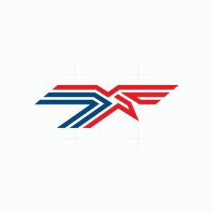 Letter T Bird Logo
