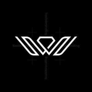 Letter W Diamond Logo
