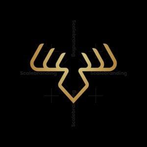 Luxury Monoline Deer Logo