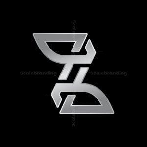 Luxury Z Silver Letter Logo