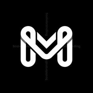 Mv Vm Letter Logos