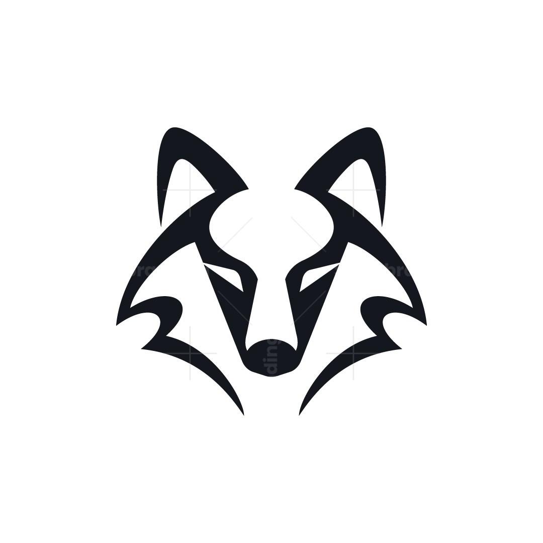 Minimal Wolf Head Logo