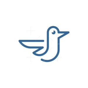 Minimalist Baby Bird Logo