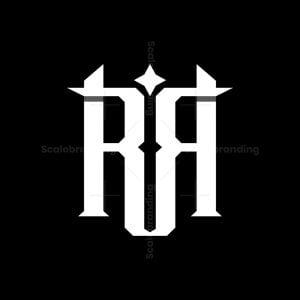 Letter Rr Star Logo