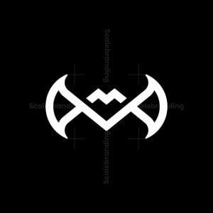 Modern M Bat Logo