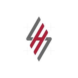 Modern Sh Or Hs Monogaram Logo