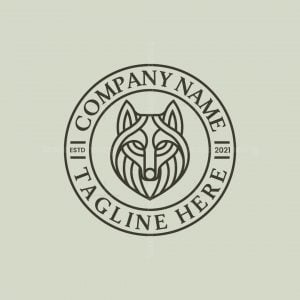Monoline Wolf Logo