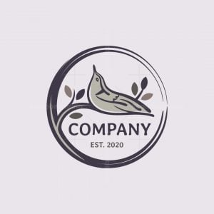 Nuthatch Bird Logo