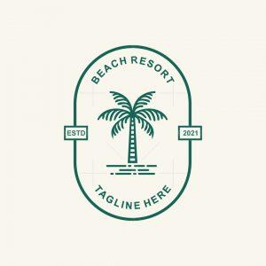 Palm Tree Beach Logo