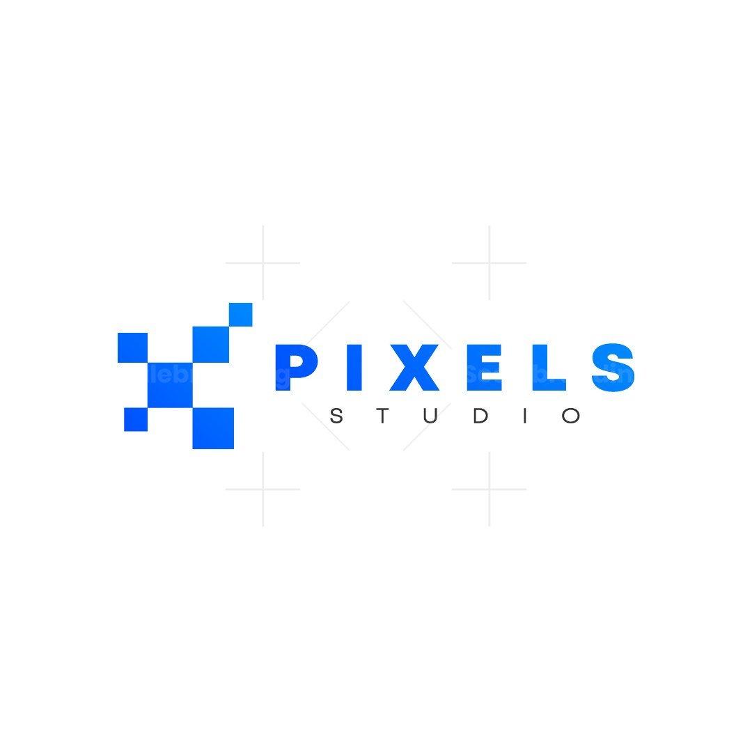 Computer Pixel Abstract Minimalist Logo Design
