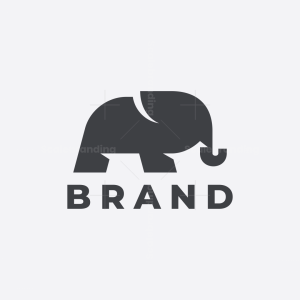 Letter R Elephant Logo