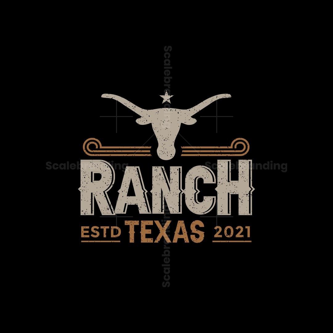 Ranch Texas Rustic Vintage Retro Logo