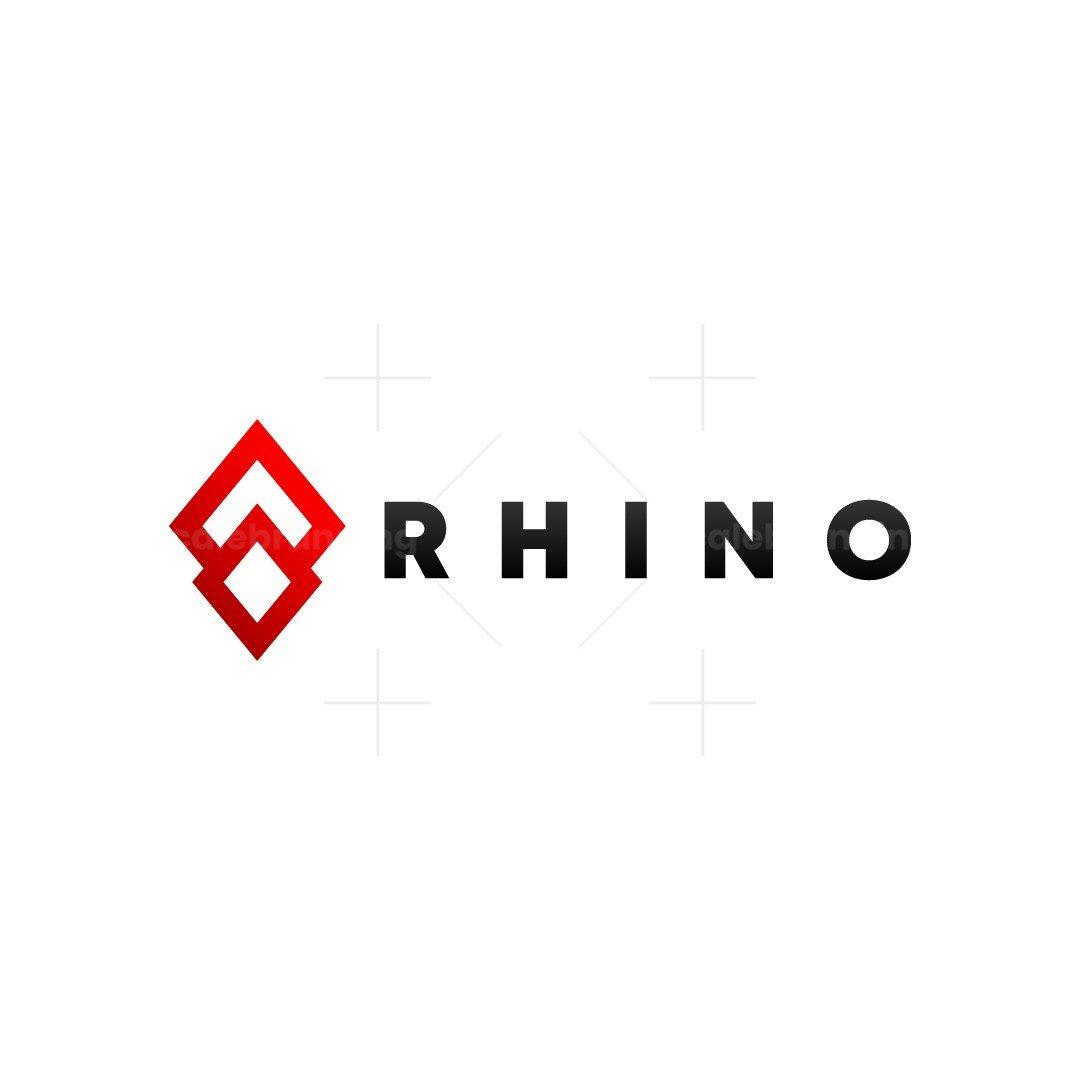 Rhino Horn Abstract Minimalist Logo Design