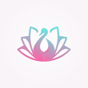 Swan Flower Logo