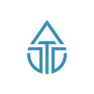 Letter T Drop Logo
