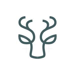 Minimal Deer Head Logo