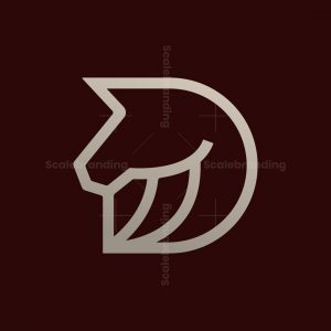 Modern Letter D Horse Logo
