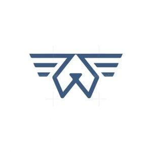 Dog Wings Logo