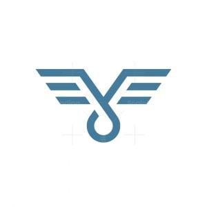 Letter J Wings Logo