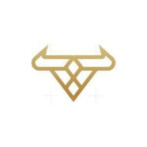 Modern Luxury Bull Logo