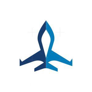 Stylish Private Jet Logo