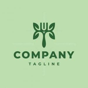 T Letter Fork Logo