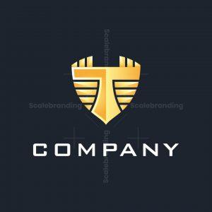 T Letter Shield Logo