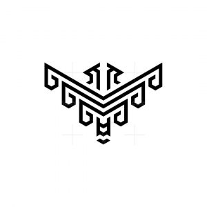 Three Letter M And Two Eagle Logo