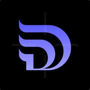 Trendy Letter D Logo