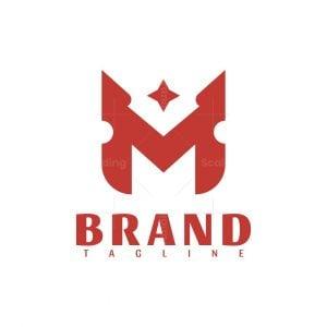 Letter M Star Trendy Logo