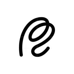 Letter Pz Or Pe Or R Logo