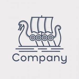 Viking Ship Logo