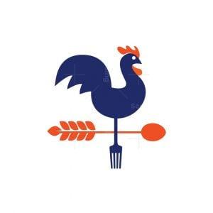 Weather Vane Rooster Logo