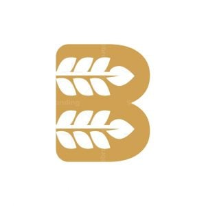 Wheat Letter B Logo