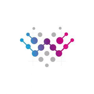 W Digital Letter Logo