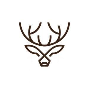 X Deer Logo Stag Logo Buck Logo