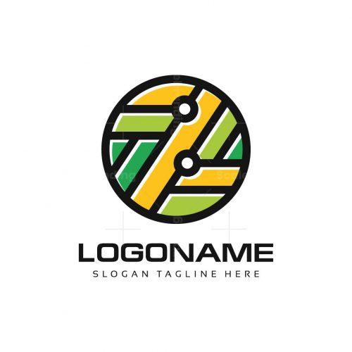 Z Letter Circle Logo