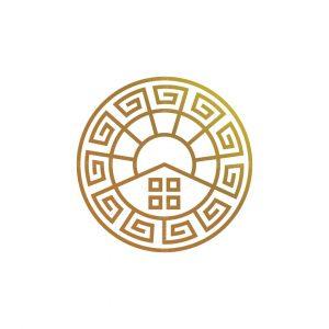Ancient House Sun Logo