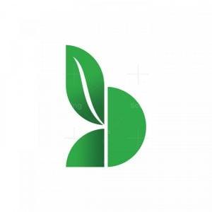 B Leaf Nature Logo