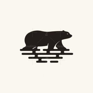Bear On Water Logo