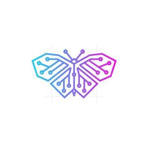 Beauty Butterfly Tech Logo