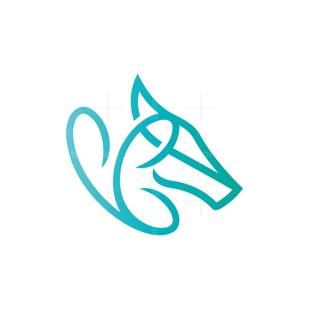Butterfly Horse Logo Horse Head Logo