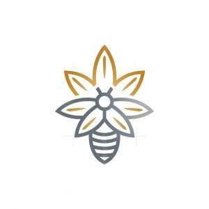 Cannabis Bee Logo Marijuana Bee Logo