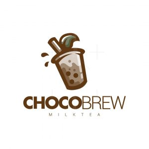 Chocolate Milktea Leaf Logo Design – Chocobrew