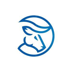 Coin Bull Logo Bull Head Logo