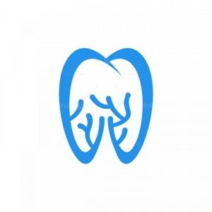 Dentist Coral Tooth Logo