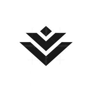 Lotus Abstract Minimalist Logo Design